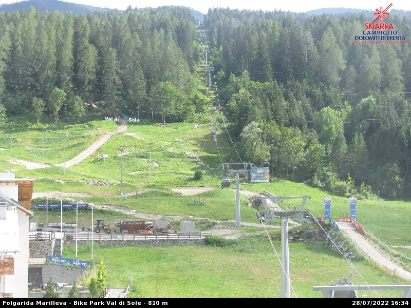 Webcam su Bike Park - Folgarida Marilleva